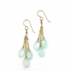 Chalcedony Cluster Earrings